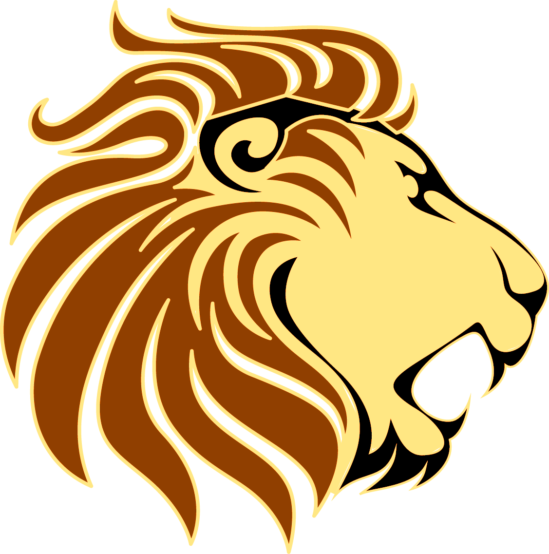Clipart lion ear. Silhouette at getdrawings com