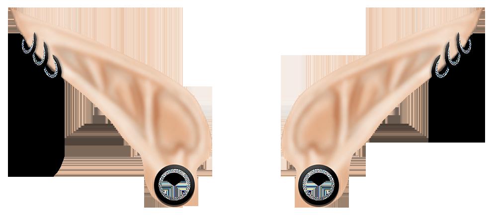 La oreja de elfo. Ears clipart oido