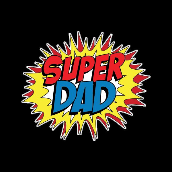 Printed vinyl super dad. Patriots clipart pop art