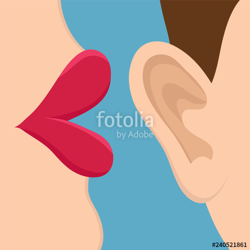 Retro style comic book. Ears clipart pop art