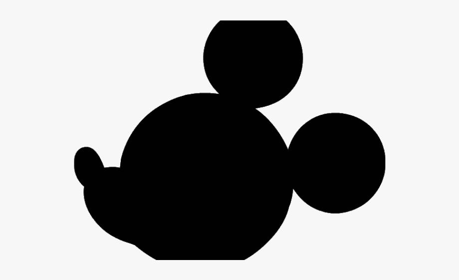 Ear clipart silhouette. Mickey mouse ears head