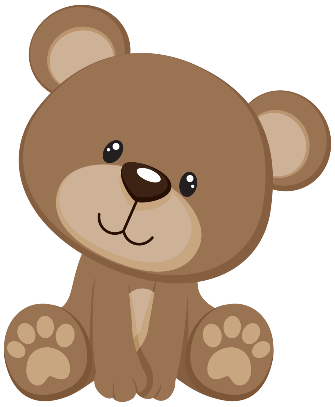 Pin by marina on. Woodland clipart bear