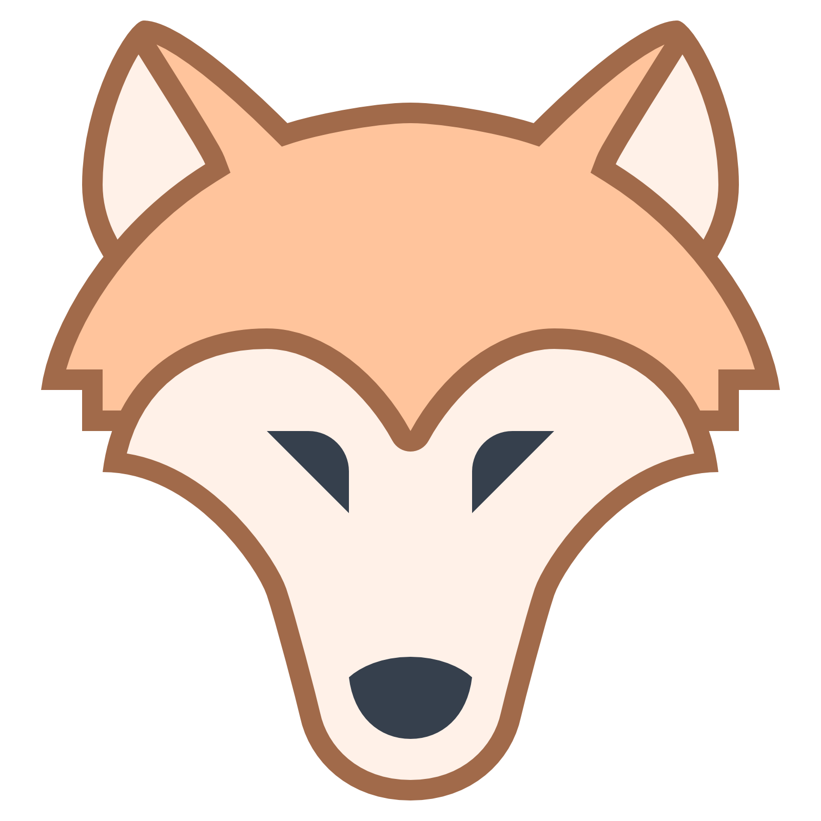 Werewolf ear pencil and. Wolves clipart nose