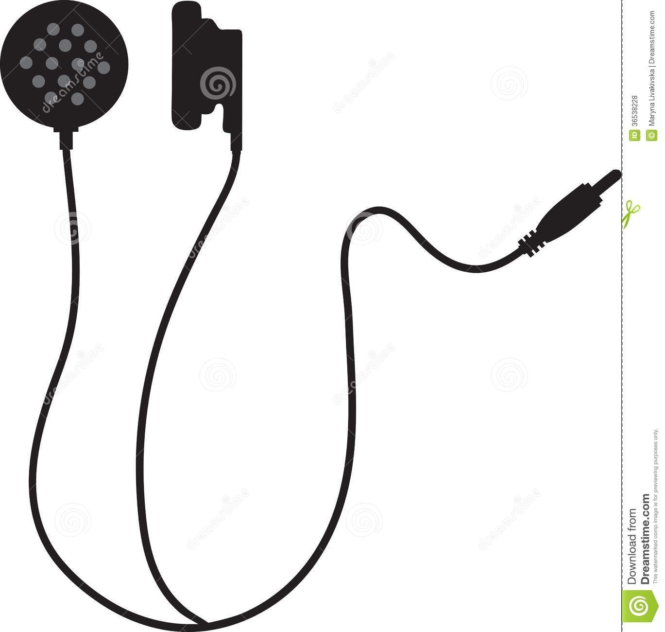 Cool of black and. Earbuds clipart