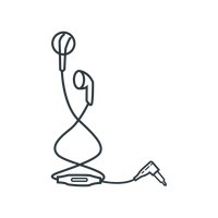 Amazing of letters format. Earbuds clipart