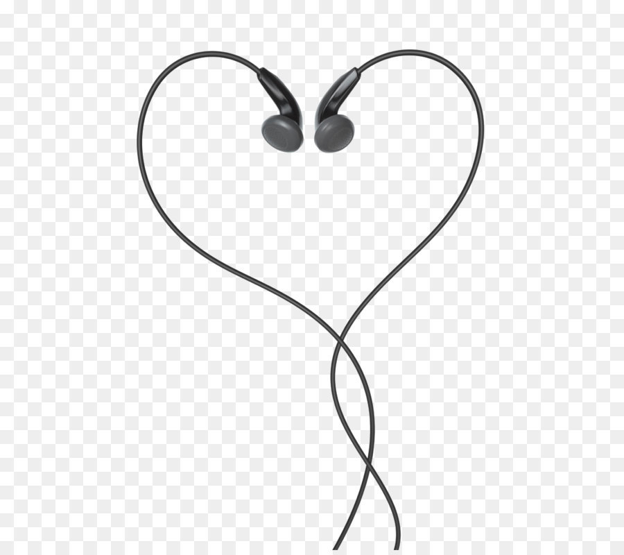 Headphones apple heart clip. Earbuds clipart