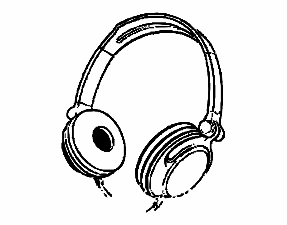 Headphones clipart head phone. Music cartoon headphone ears