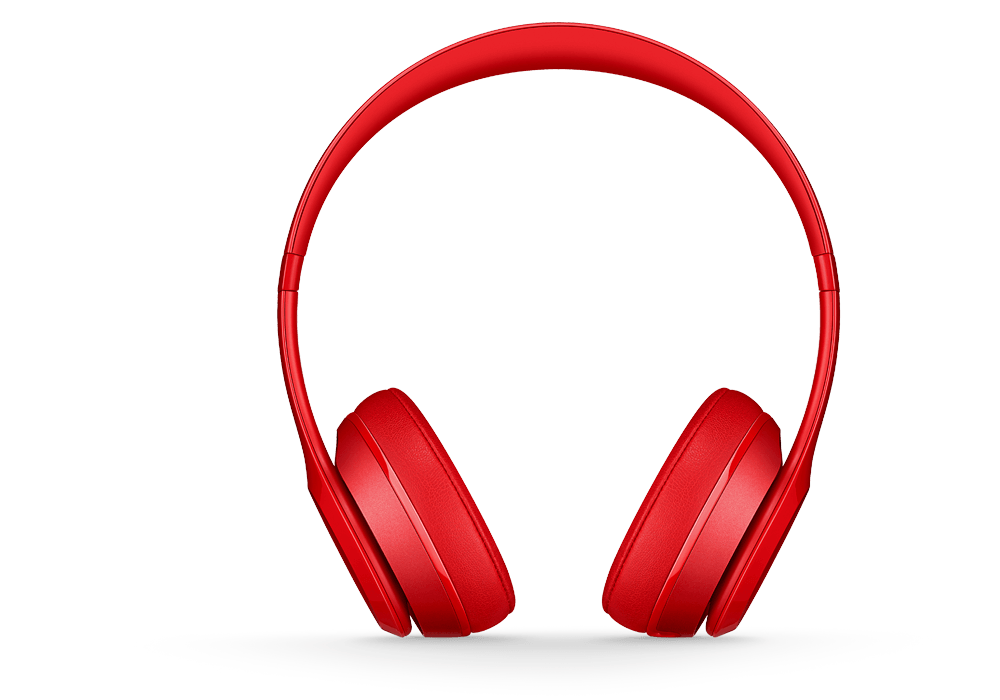 Headphones clipart headphone beats. Solo red by dre