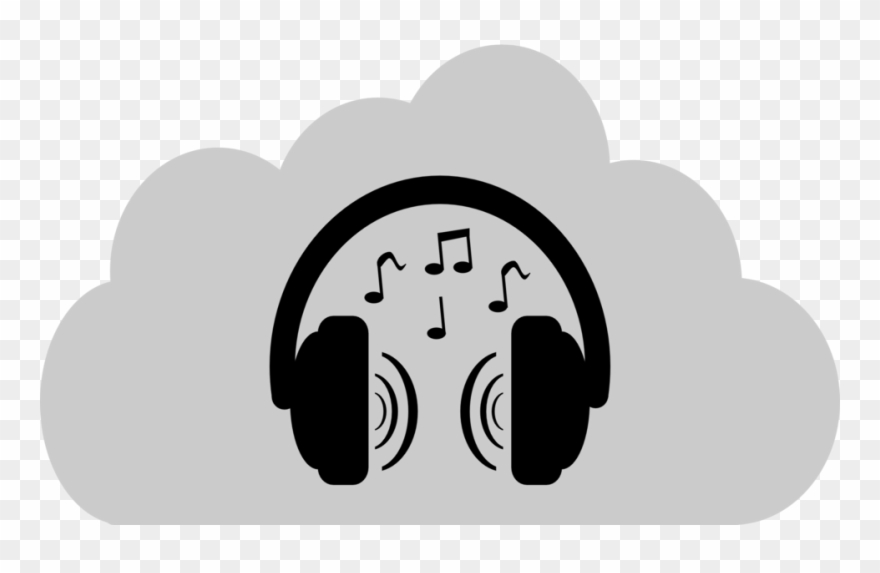 Headphones clipart sound. Cloud music clip art