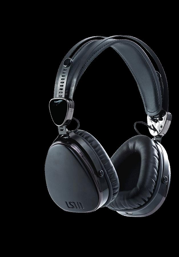 Wireless matte black troubadours. Headphone clipart accessories
