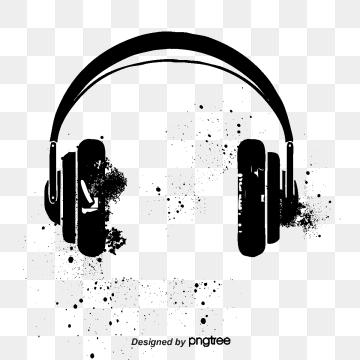 Headphone png vector psd. Headphones clipart logo
