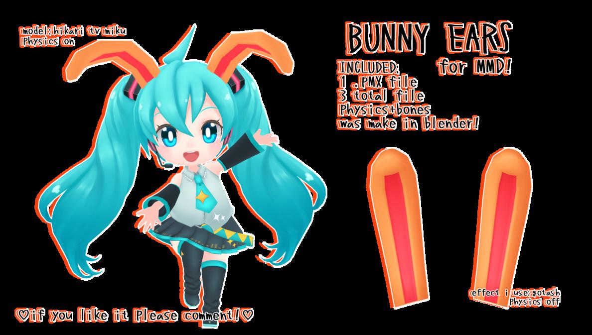 Ears clipart blue bunny. Mmd dl floppy physics