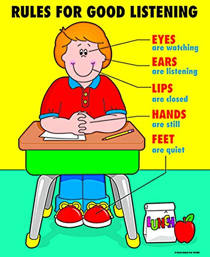 Ears clipart effective listening. Carson dellosa rules for
