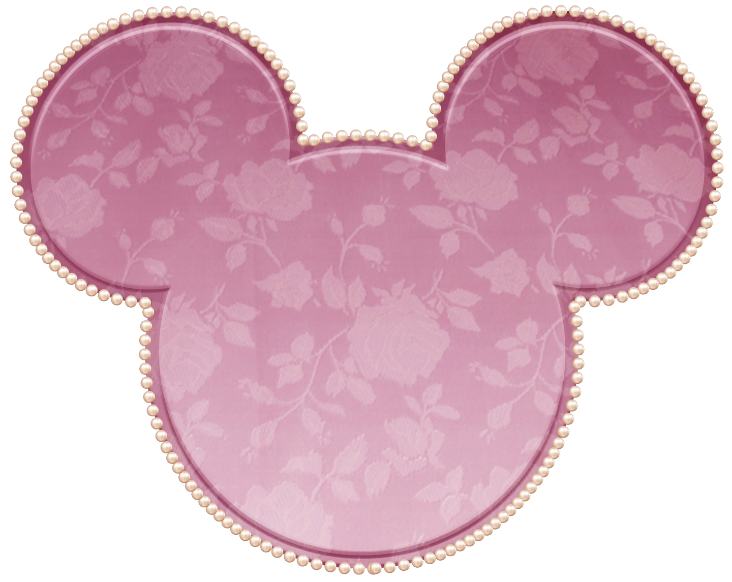 Pink lace minnie mouse. Ears clipart part head
