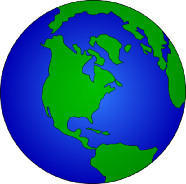 Animated globe earth panda. Planet clipart moving picture