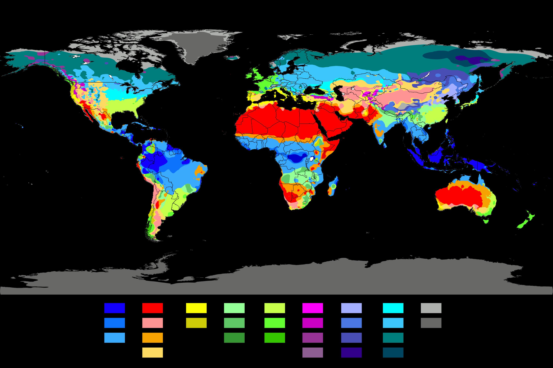 Koppen climate map maps. Missions clipart world atlas