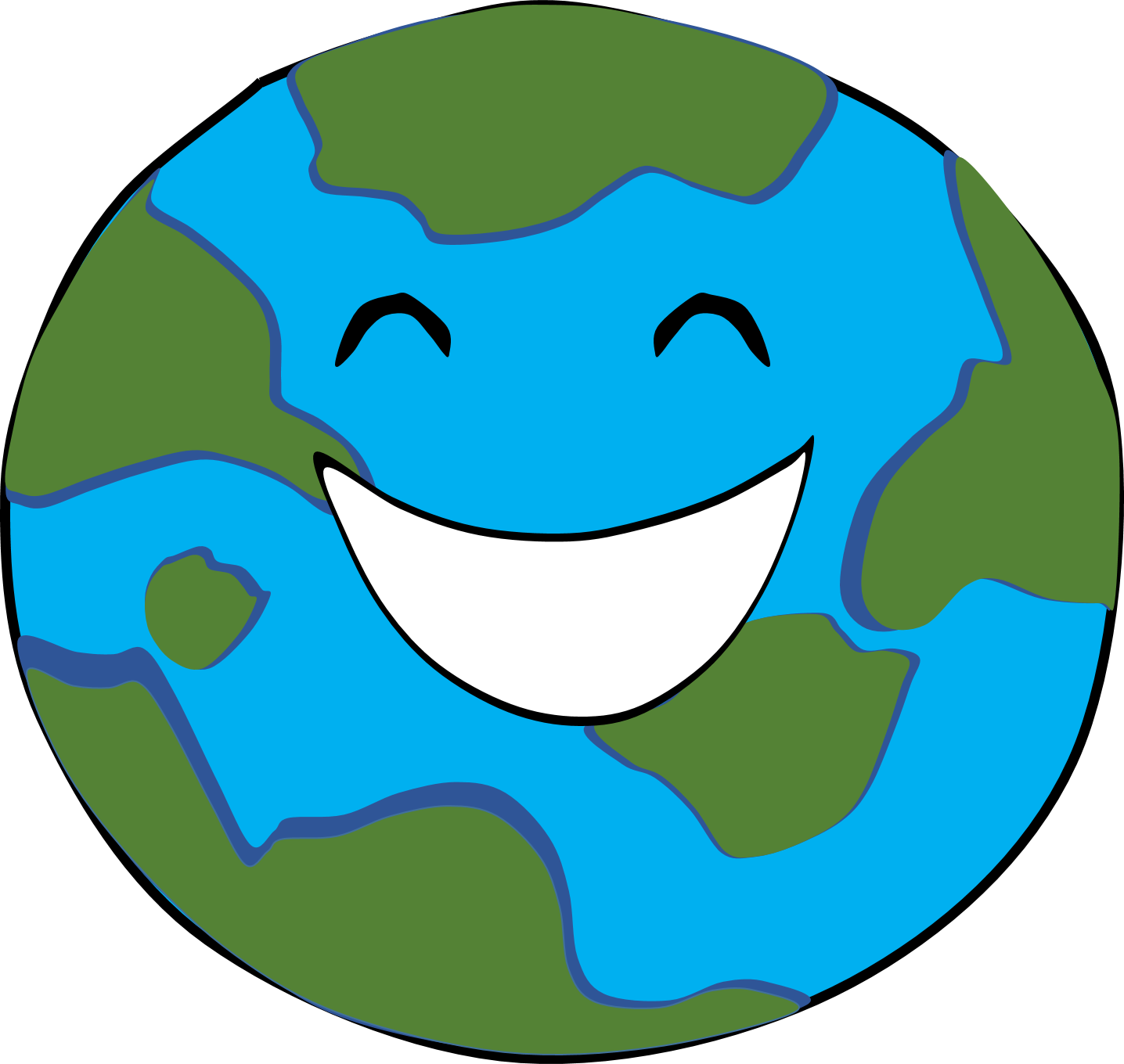 Earth happy frames illustrations. Planet clipart cute