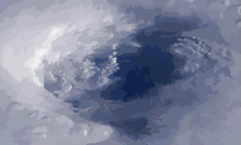 Hurricane clipart hurricane eye. Isabel from iss disaster