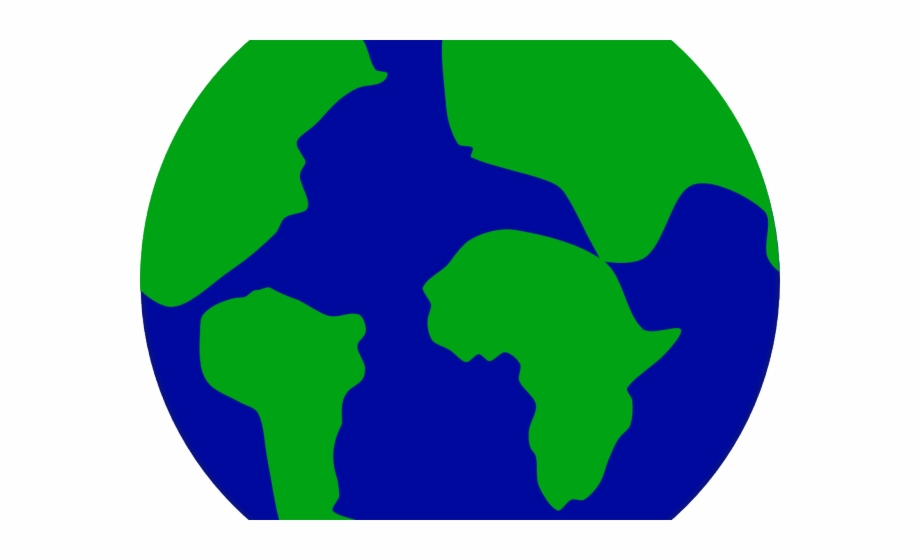 Planet clipart earth half. Continent simple easy drawing
