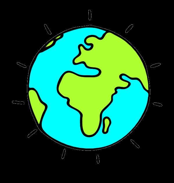 Earth transparent background frames. Globe clipart cartoon