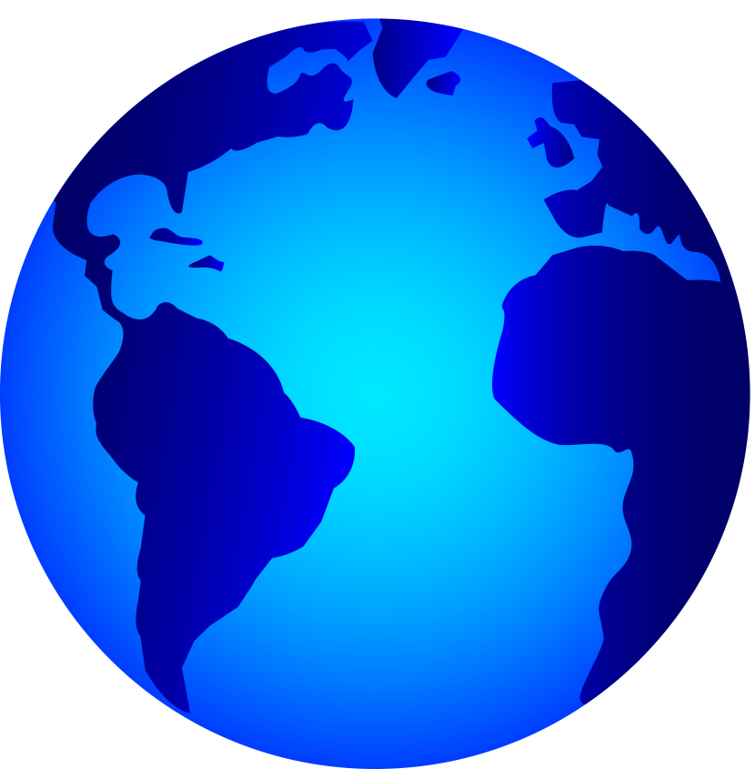 World globe free collection. Planets clipart simple