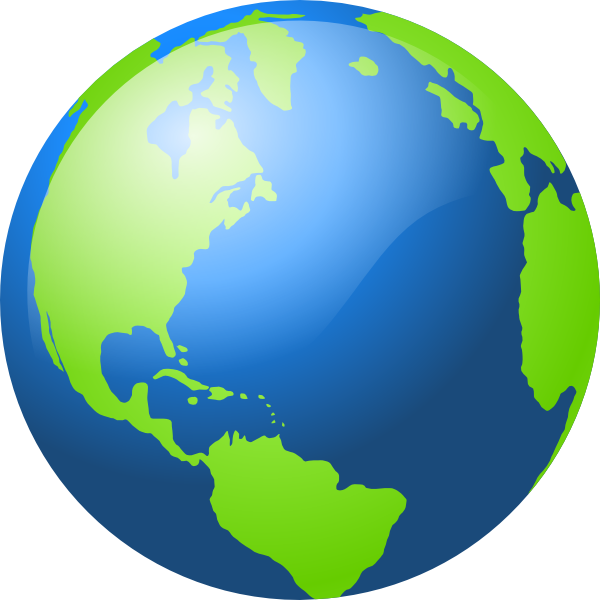 Large blue and green. Planets clipart planet earth