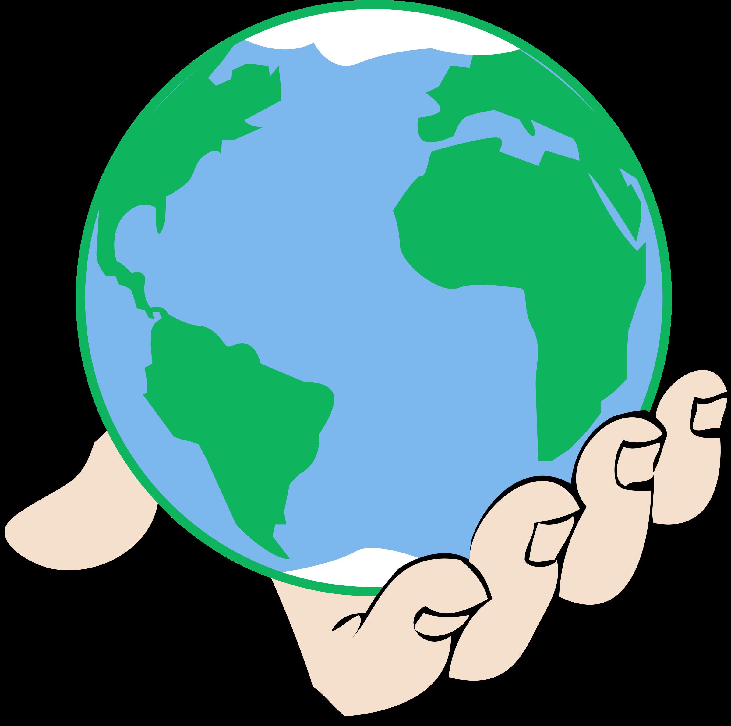 Hands clipart cute. Globe child god free