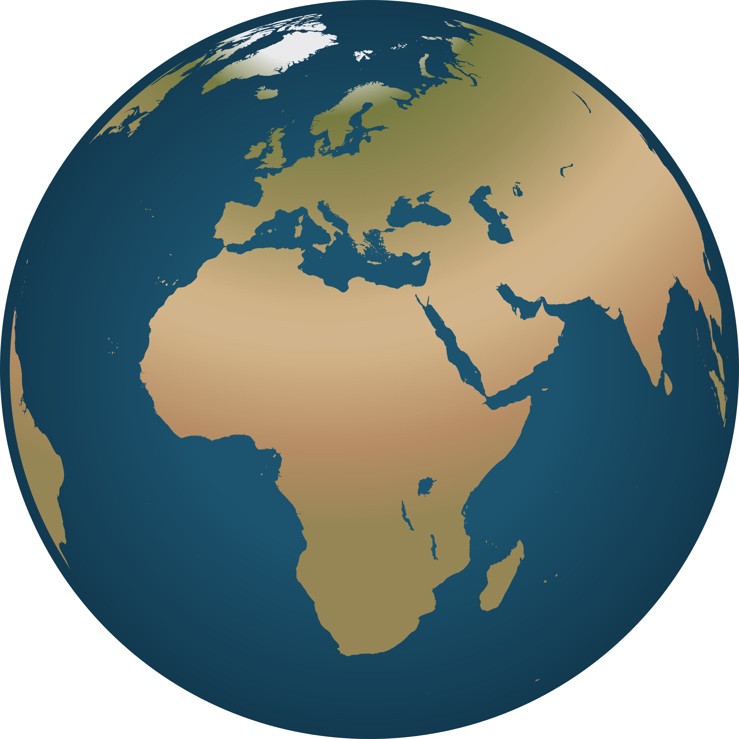Africa earth . Website clipart globe icon