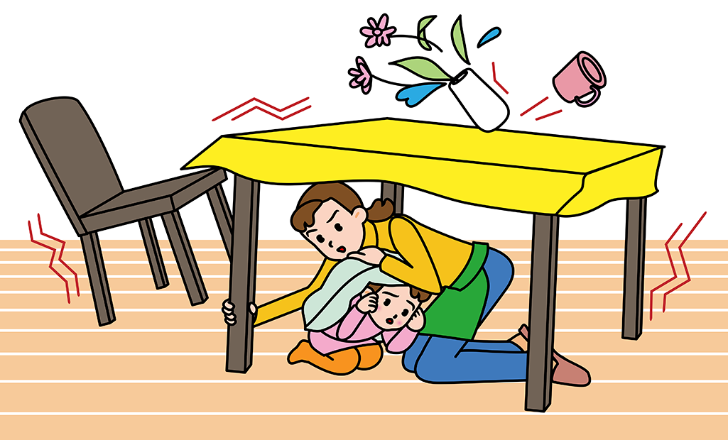 Precautions how to stay. Earthquake clipart