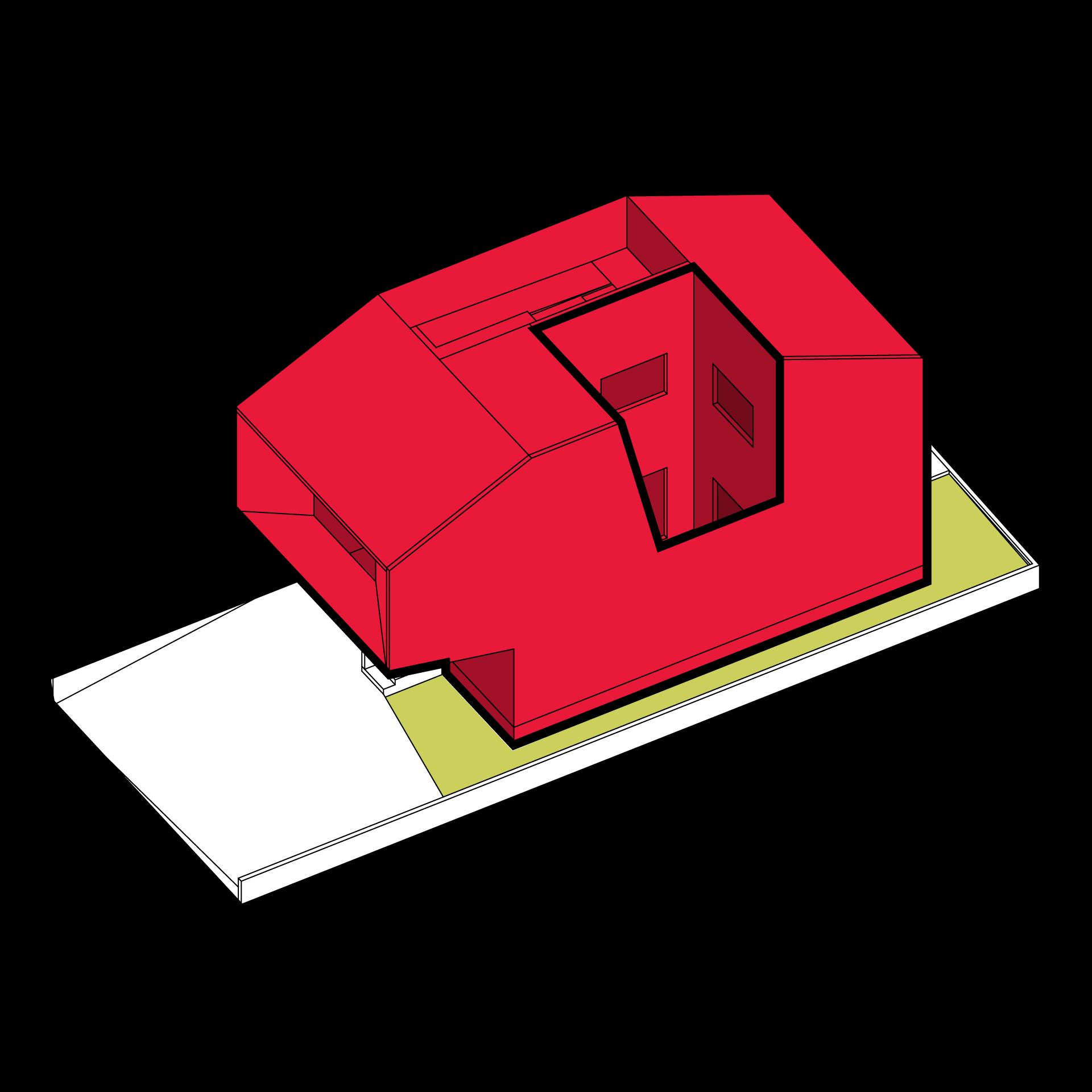 Hansha reflection house studio. Earthquake clipart building structure