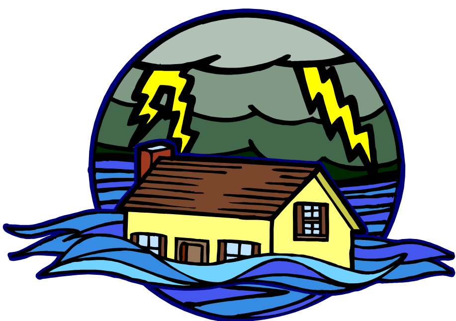 collection of disaster. Flood clipart city drawing