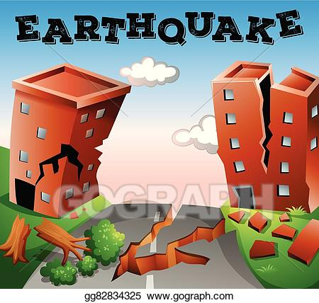Eps vector natural disaster. Earthquake clipart calamities