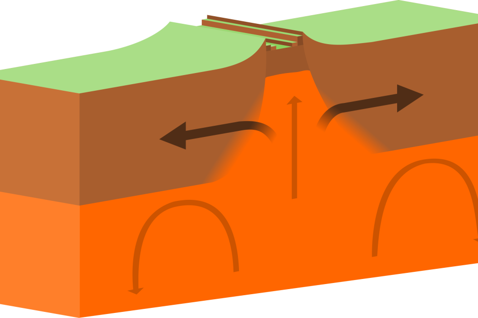 Earthquakes divergent boundary abc. Earthquake clipart collapsed building