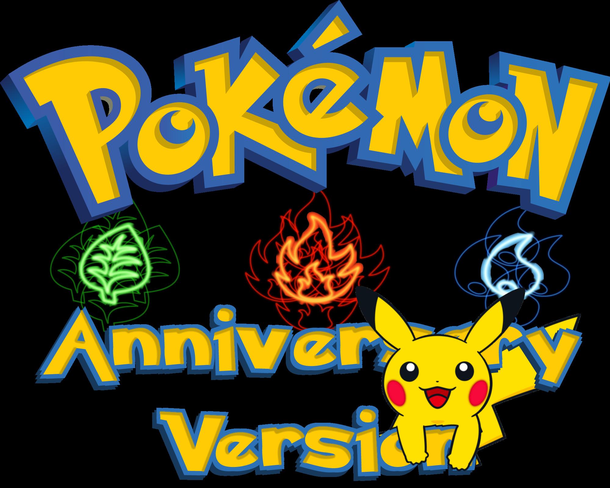 Pokeball clipart simplistic. Pokemon anniversary version fantendo
