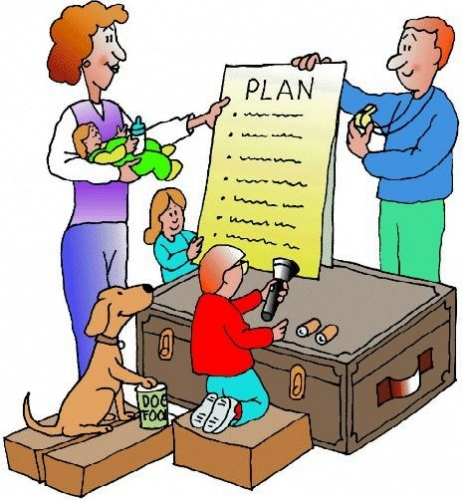 Free emergency preparedness cliparts. Planning clipart family plan