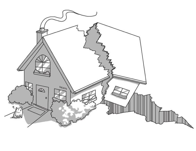 It s not if. Earthquake clipart expensive house