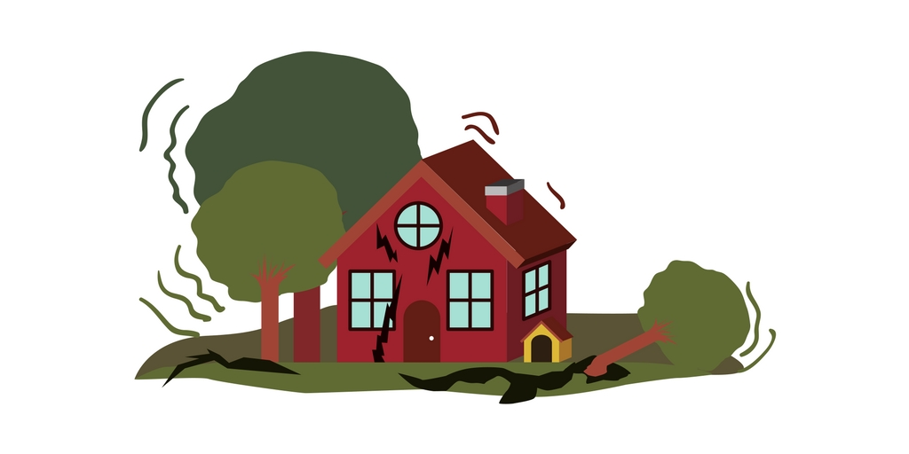 Earthquake clipart home thing. Survival kit everything you