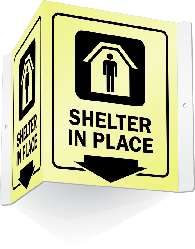Emergency clipart shelter in place. Signs earthquake tornado fallout