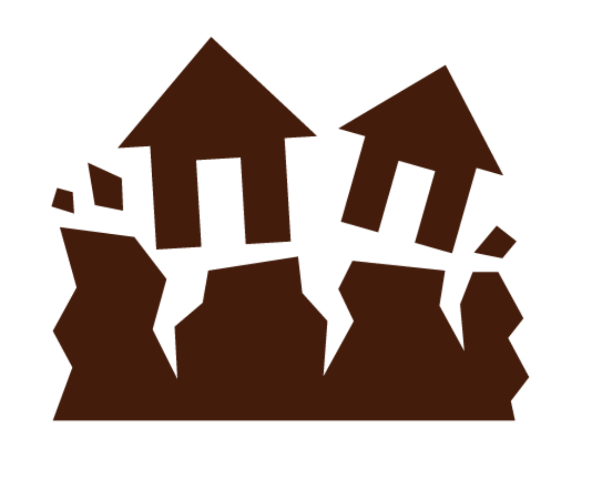 Earthquake clipart issue global. Natural disaster icon house