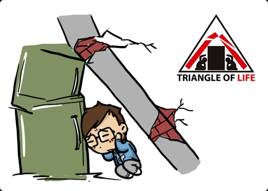 Surviving an the triangle. Earthquake clipart mitigation