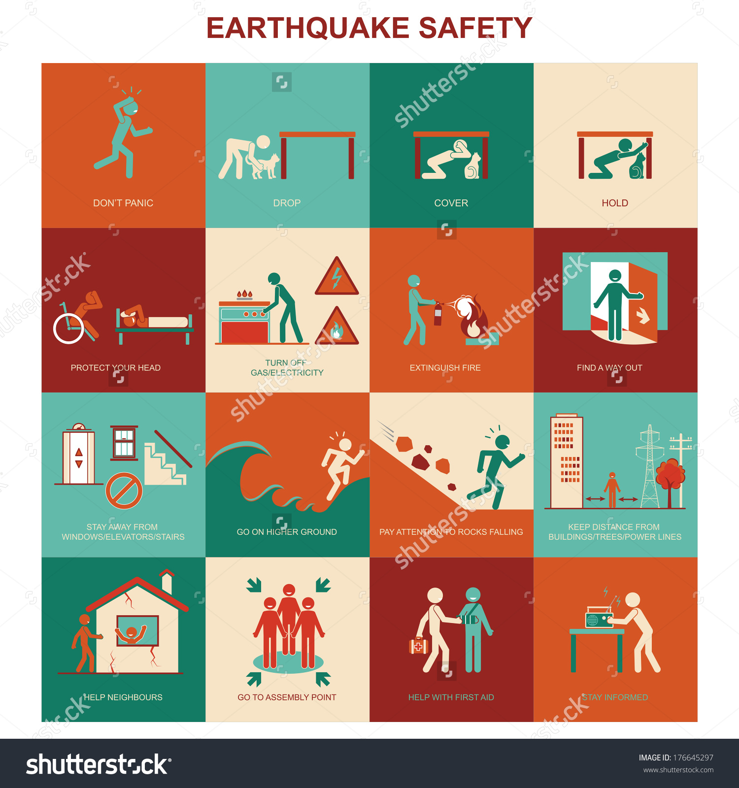 Safety measures during . Earthquake clipart precautionary measure