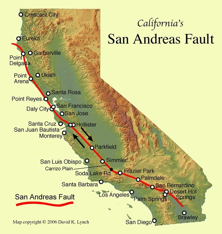 Earthquake clipart san andreas fault. Transform plate boundaries