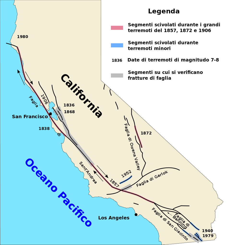 Us map with wallacea. Earthquake clipart san andreas fault