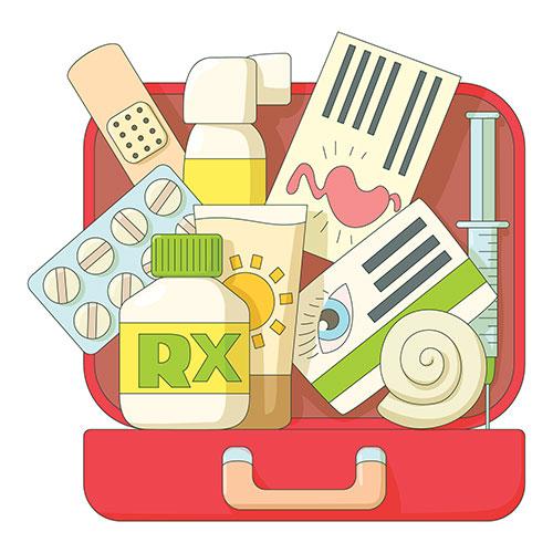 Emergency clipart emergency backpack. Kit checklist for kids