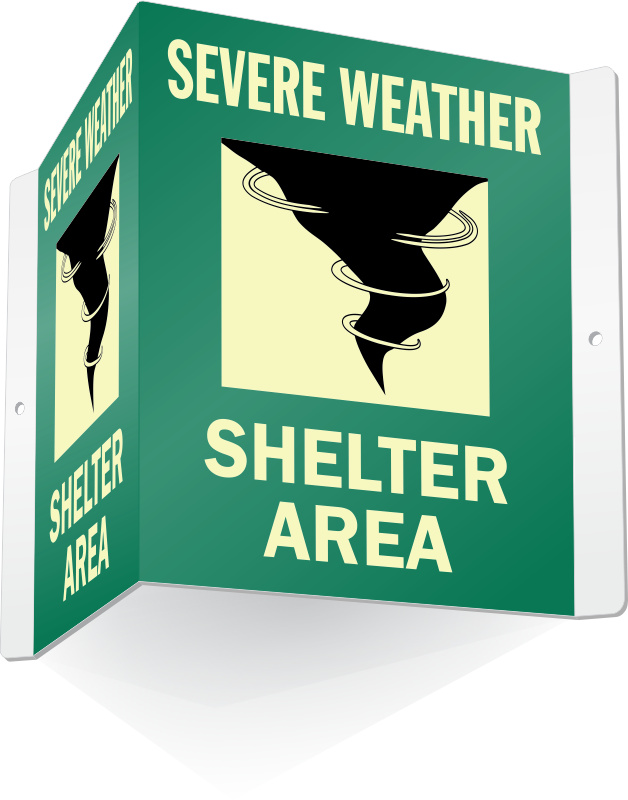 Severe weather signs zoom. Emergency clipart shelter in place