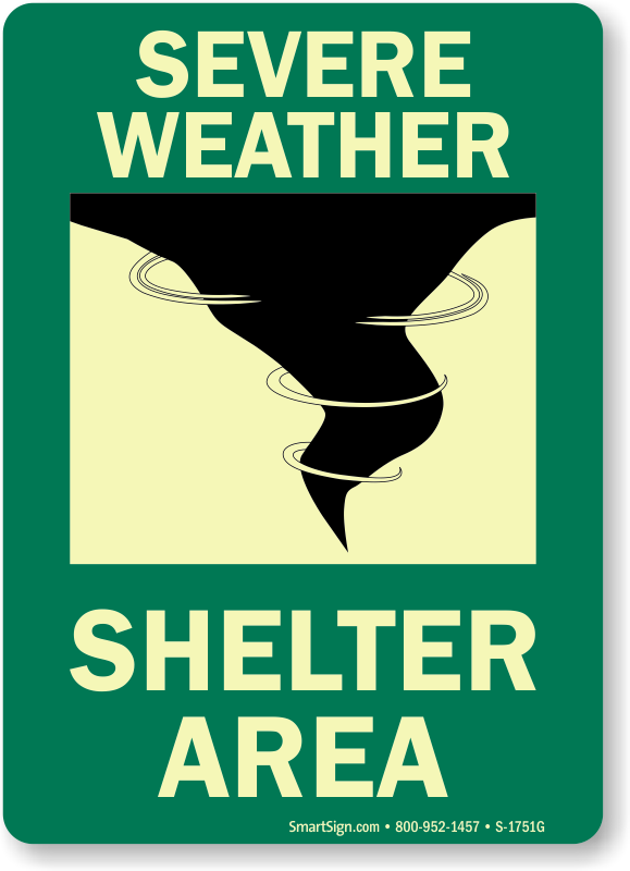 Shelter signs zoom price. Emergency clipart extreme weather