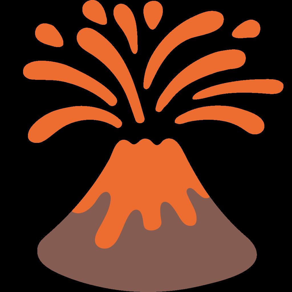 Earthquake clipart volcanic eruption. File emoji u f