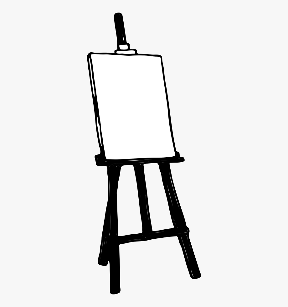 Cliparts transparent background clip. Painter clipart easel board