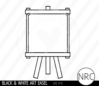 Easel clipart black and white. Art clip commercial use