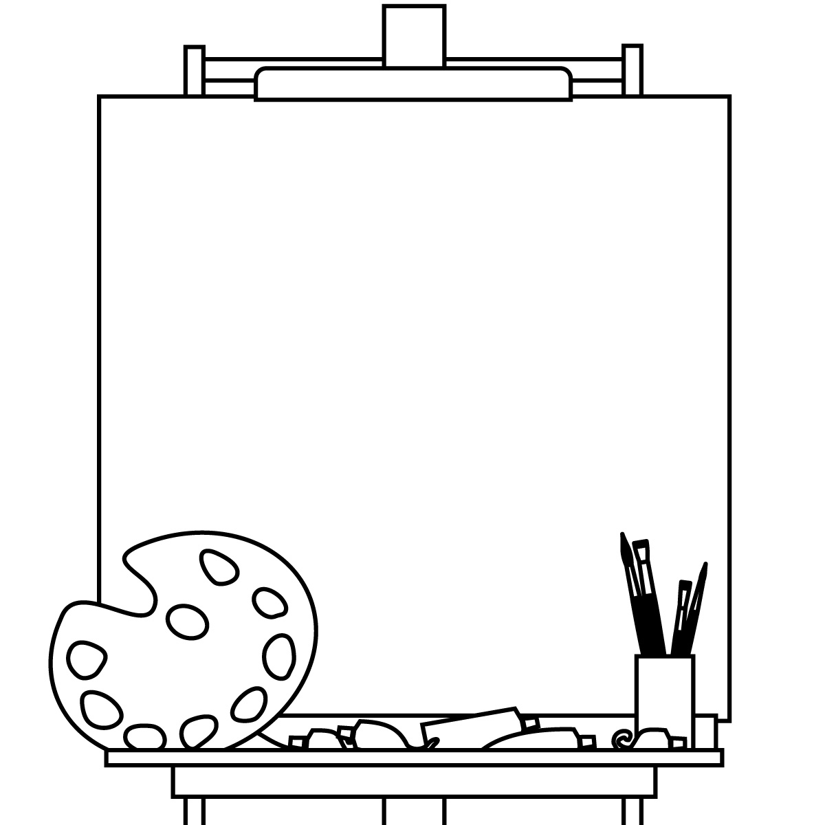 art clipartlook. Easel clipart black and white